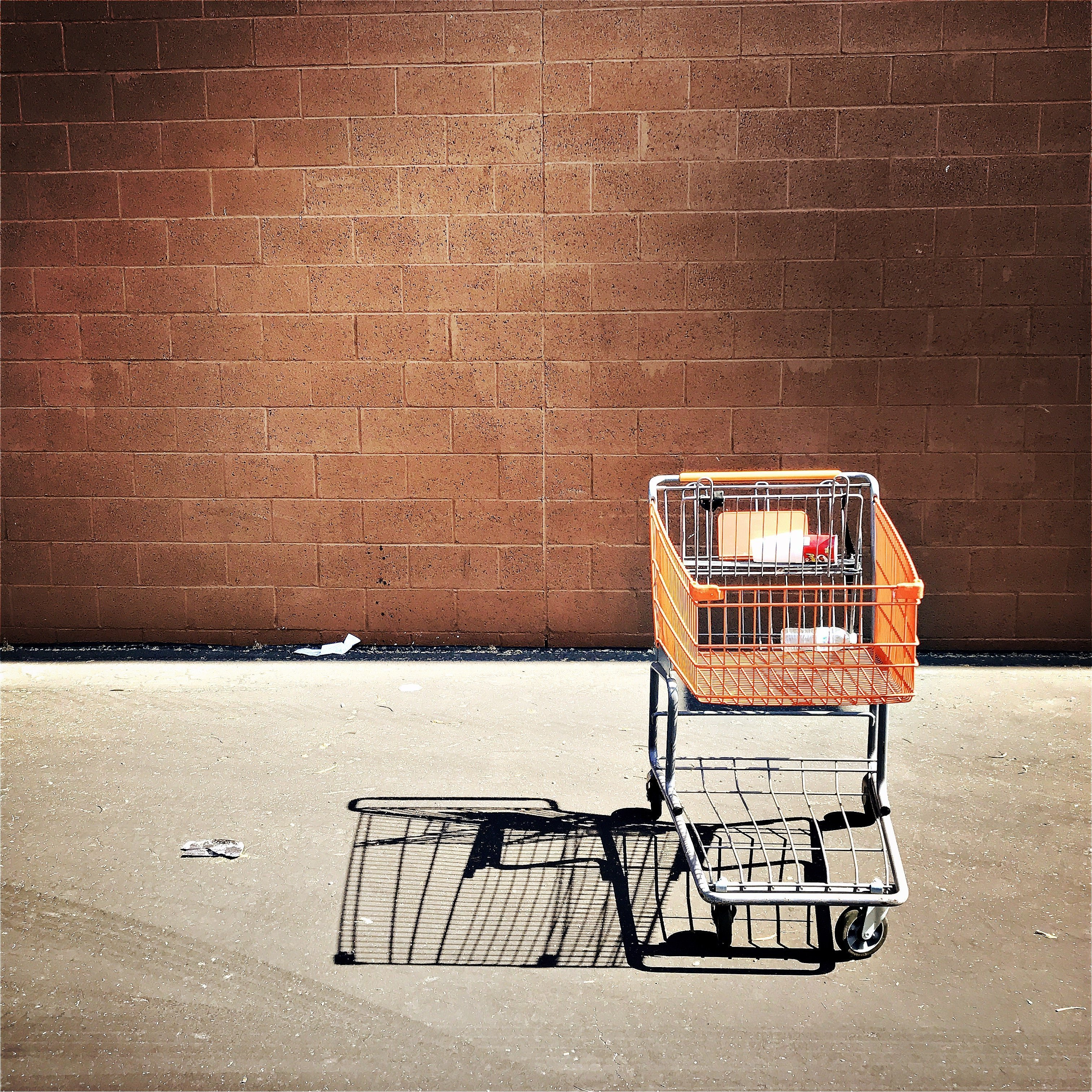lone shopping cart