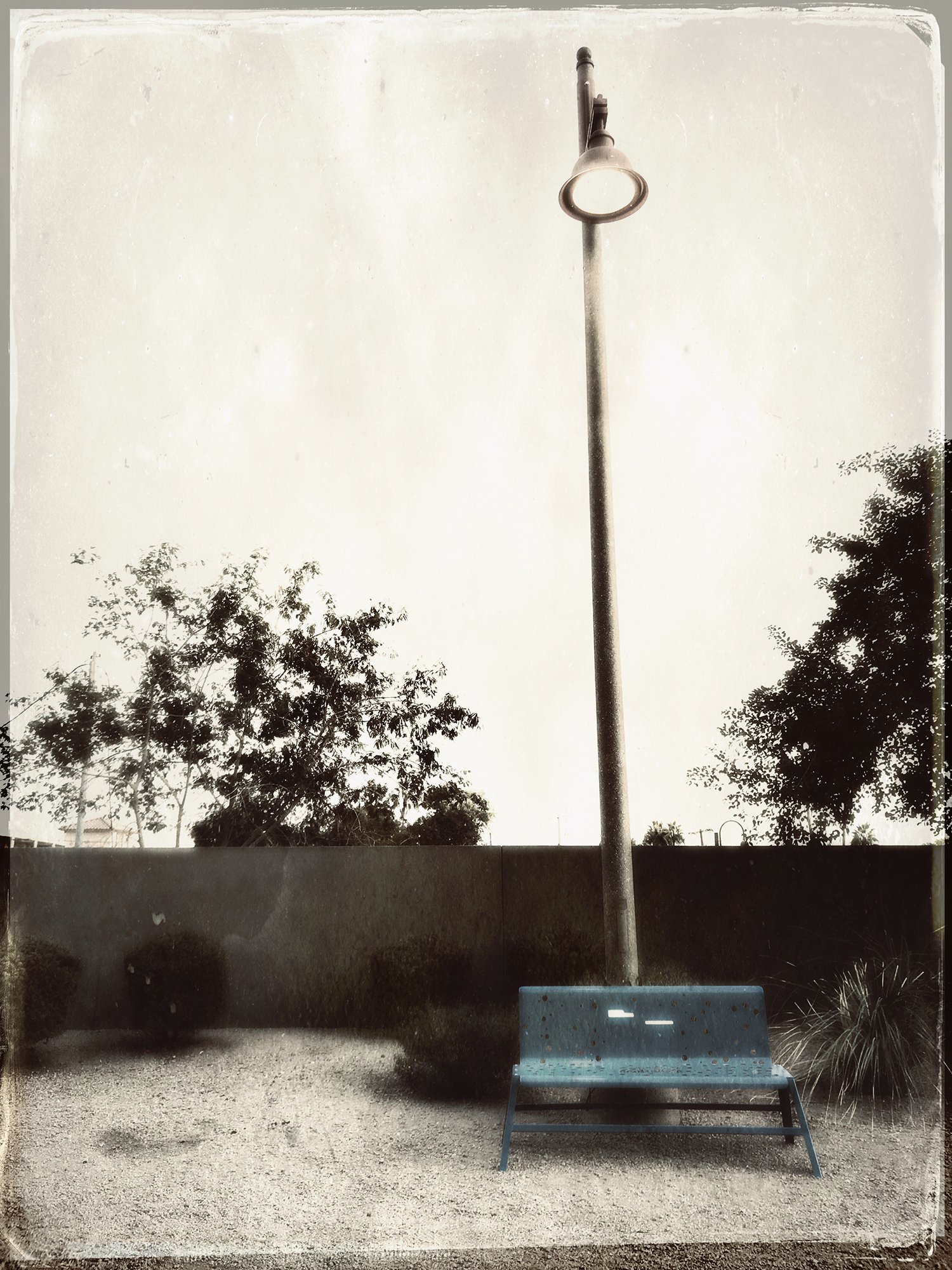 bench with streetlight