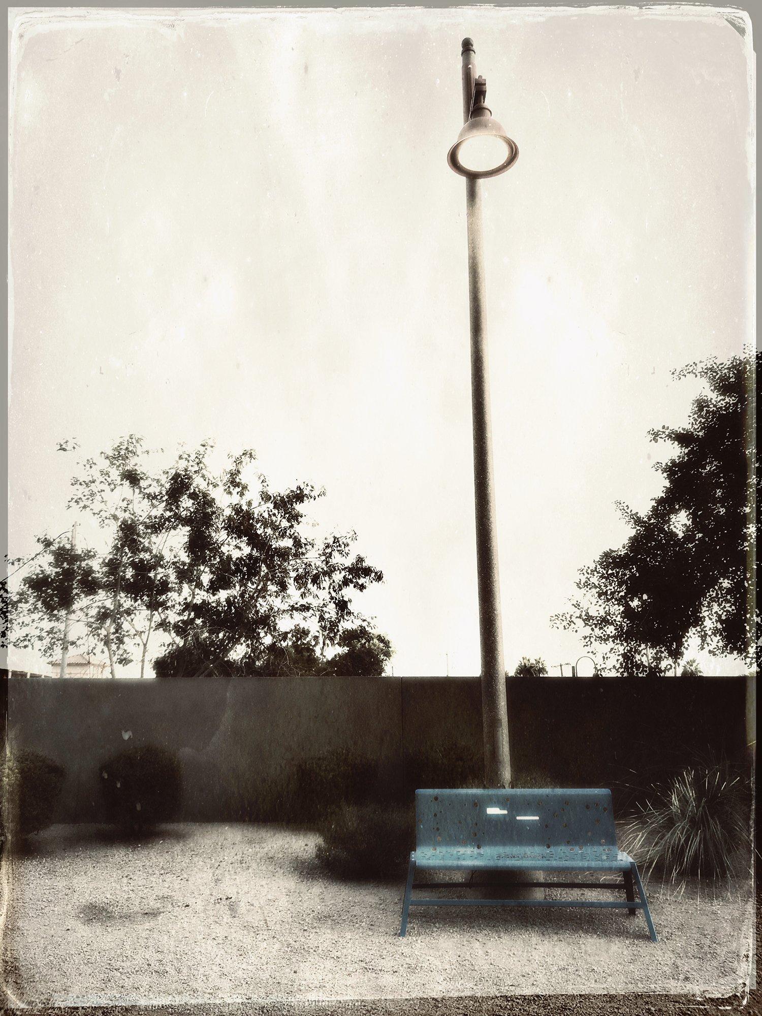 bench with streetlight