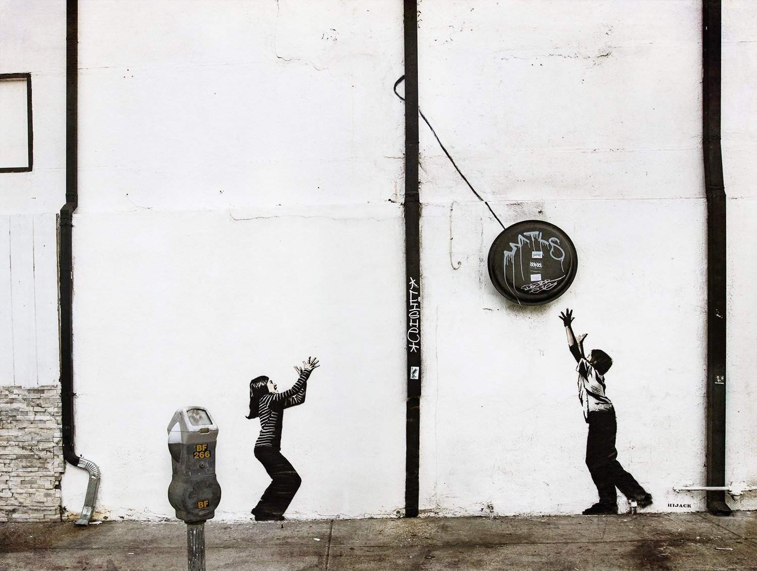 tether ball, street art, wall art, urban art, life, kids playing